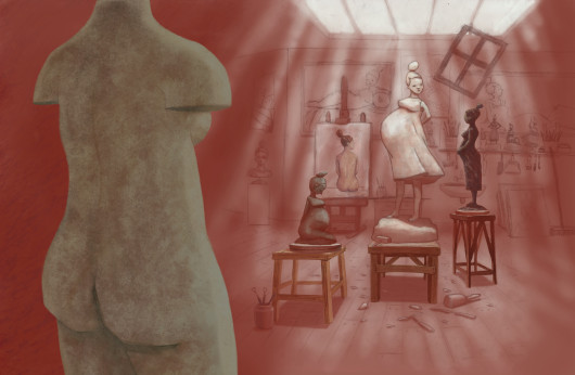 'Verf, steen of klei' gedich van Hans Hagen